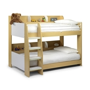 Domino Maple / White Bunk Bed - Free Next Day Delivery*