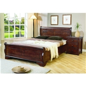 Pre Order Back In Stock March - Louis Hardwood Sleigh Bed Frame - Double - Free Next Day Delivery*