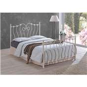 Inova Ivory Metal Bed Frame - King Size 5ft - Free Next Day Delivery*