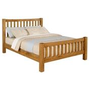 "Denver Solid Oak Double Bed Frame - 4ft 6"" - Free Next Day Delivery*"