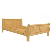 King Size Premier Isobel Pine Sleigh Bed (5ft) - Free Delivery*