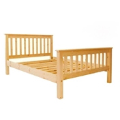 "Double Size Premier Harrogate Slatted Pine High End Bed (4ft 6"") - Free Delivery*"