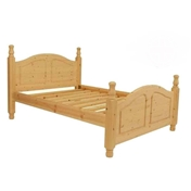 "Double Premier Oslo Pine High End Bed (4ft 6"") - Free Delivery*"