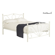 Cleon Victorian Ivory Metal High End Bed Frame - Small Double - Free 24HR Delivery*
