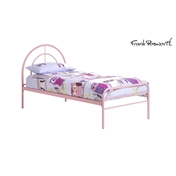 Sally Pink Metal Low End Bed Frame - Single - Free Next Day Delivery
