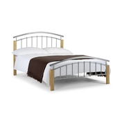 Aztec Small Double High End Metal/Oak Bed - Free Next Day Delivery*