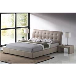 Boston Stone Faux Leather Bed Frame - King Size 5ft - Free Next Day Delivery*