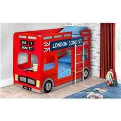 London Bus Bunk Bed - Free Next Day Delivery Or Day Of Choice 2 Man To Room Delivery*