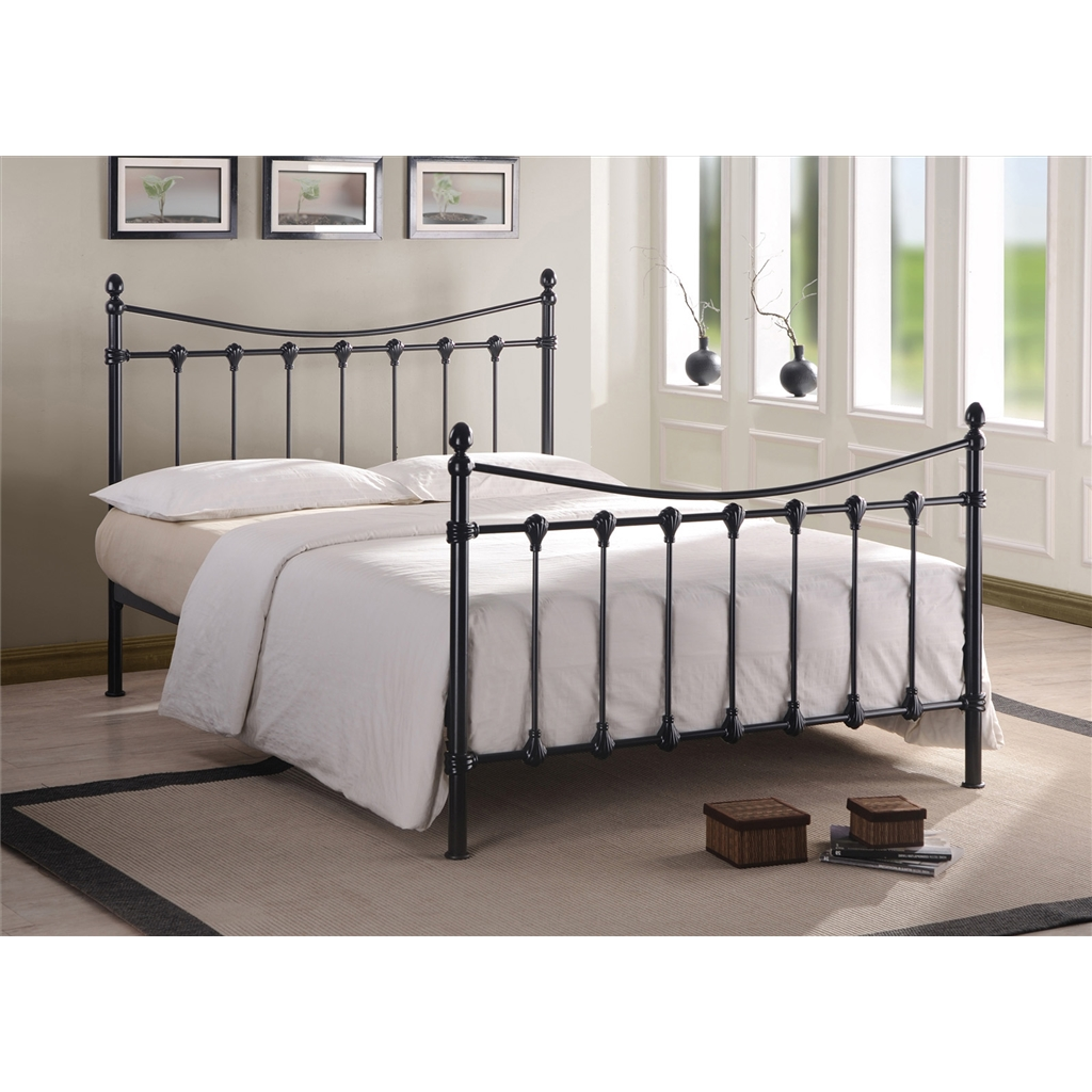Florida Black Metal Bed Frame King Size 5ft Free Next