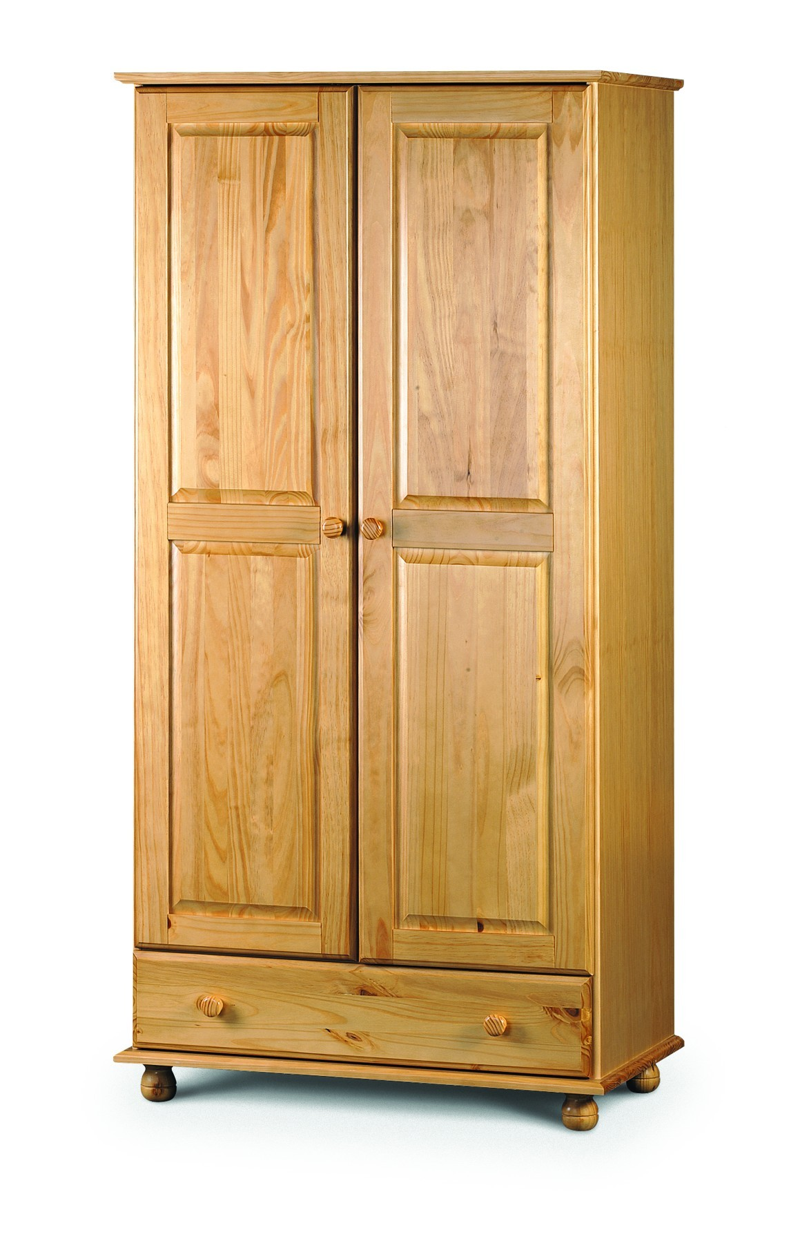 Traditional Solid Pine Combination Wardrobe Flat Pack Only