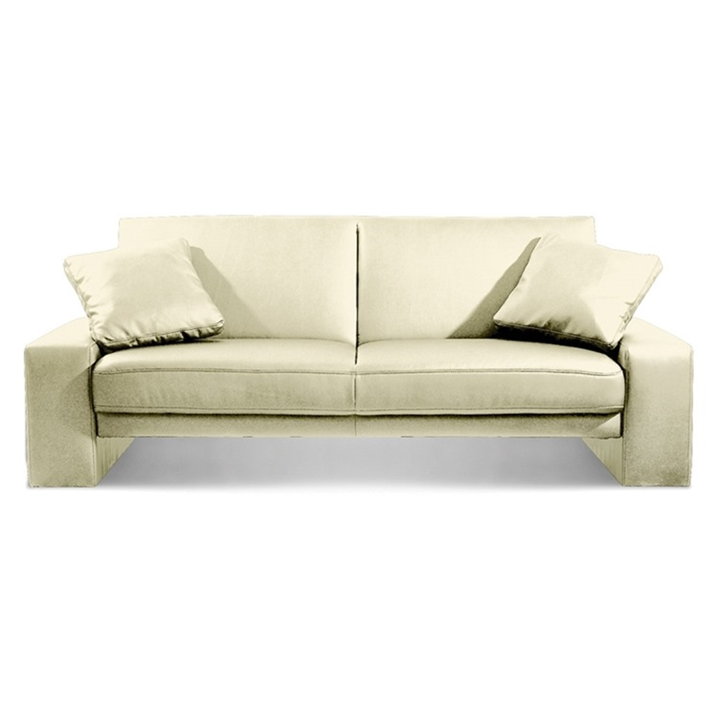 White faux leather sofa bed for Sofa bed free delivery