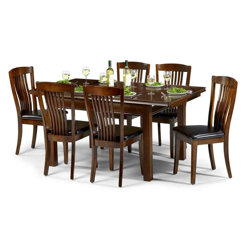 ashfield dining sets sleek mahogany finish dining set table 4