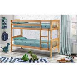 Solid Pine Shaker Style Bunk Bed 2 x 3ft (90cm) - Free Next Day UK Delivery*