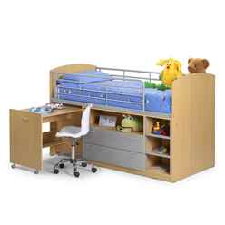 Contemporary Maple Sleeper Childrens Bed 3ft (90cm) - Free Next Day UK Delivery*