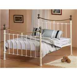 Elizabeth Ivory Metal Bed Frame - King Size 5ft - Free Next Day Delivery*