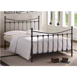 Shell Detailed Black Metal Bed Frame - Single 3ft