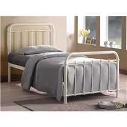 Classic Ivory Metal Bed Frame - Single 3ft