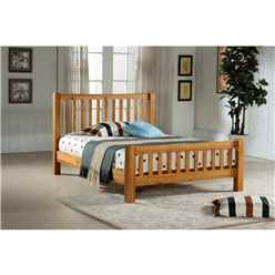 Solid Oak Single Bed Frame - 3ft - Free Next Day Delivery*