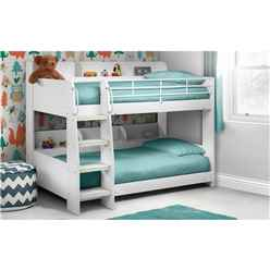 Premium Modern White Bunk Bed 2 x 3ft (90cm) - Free Next UK Delivery* - Best Seller