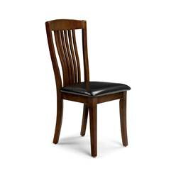 Sleek Mahogany Finish Dining Chair
