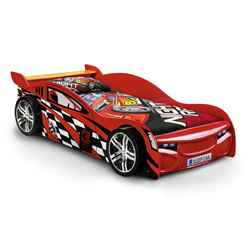Red Race Car Bed Frame With Underbed Storage Drawer - Single - Free Next Day UK Delivery*