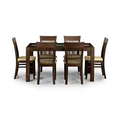 Classy Wenge Finish Dining Set (Table + 4 Chairs)