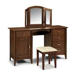 Hardwood Wenge Twin Pedestal Dressing Table