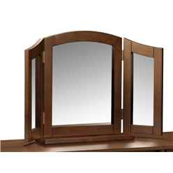 Hardwood Wenge Triple Mirror