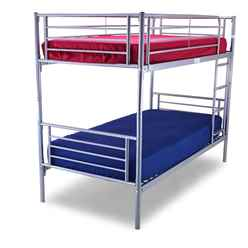** PRE ORDER - DUE MAY 2018 ** Silver Bertie Bunk Bed Frame - Single 3ft - Free Next UK Delivery*