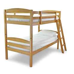 Moderna Antique Oak Bunk Bed - Single 3ft