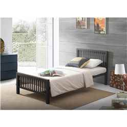 Oriental Shaker Style Black Metal Bed Frame - Single 3ft