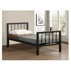 Black Micro Slatted Metal Bed Frame - Single 3ft