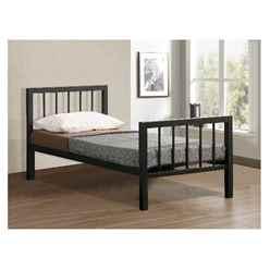 Black Micro Slatted Metal Bed Frame - Single 3ft
