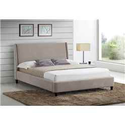 "Sand Finish Contemporary Styled Fabric Bed Frame - Double 4ft 6"" - Free Next Day Delivery*"