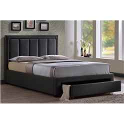 "Plush Grey Fabric Bed Frame - Double 4ft 6"" - Free Next Day Delivery*"