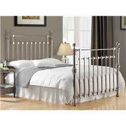 "Chrome Squared Metal Bed Frame - Double 4ft 6"" - Free Next Day Delivery*"