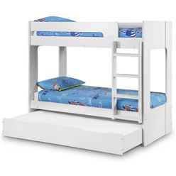 Premium All White Bunk Bed Including Under Bed/Storage Drawer 2 x 3ft (90cm)