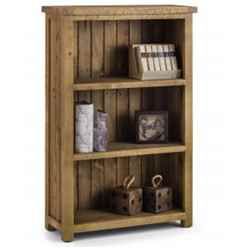 Rustic Reclaimed Pine Low Bookcase