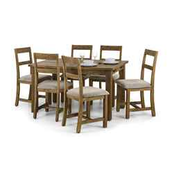 Rustic Reclaimed Pine Dining Set (Table + 4 Chairs)
