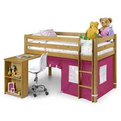 Pine Childrens Sleep Station 3ft (90cm) - Pink - Free Next UK Delivery*