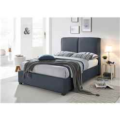 Designer Fabric Dark Grey Bed Frame - King 5ft