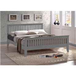 Grey Wooden Bed Frame - Double 4ft 6""