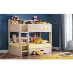 Sonoma Oak Book Case Bunk Bed 3ft (90cm) - Best Seller