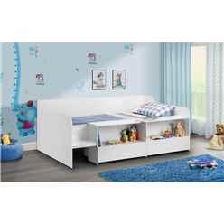 White Low Sleeper - Single 3ft (90cm)