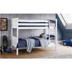 Modern White Bunk Bed 3ft (90cm) - Best Seller
