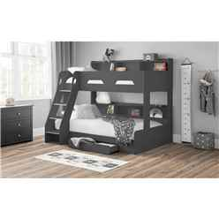 Anthracite Triple Sleeper Book Case Bunk Bed 3ft (90cm) - Best Seller