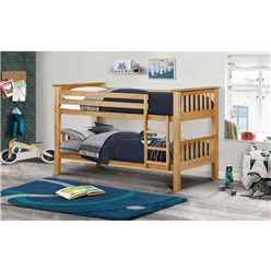 Premium Pine Finish Shaker Style Bunk Bed 2 x 3ft (90cm) - Free Next Day UK Delivery* - Best Seller