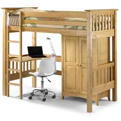 Pine Finish Shaker Style Children's Cabin Bed 3ft (90cm) - Free Next Day UK Delivery*
