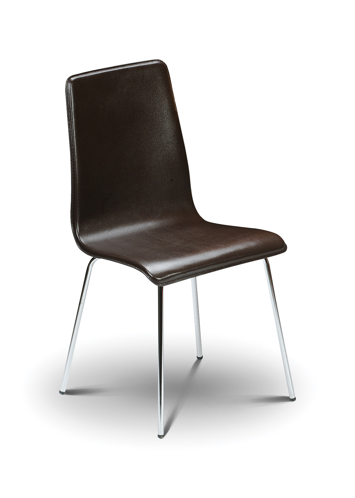 Contemporary Brown Faux Leather Chair