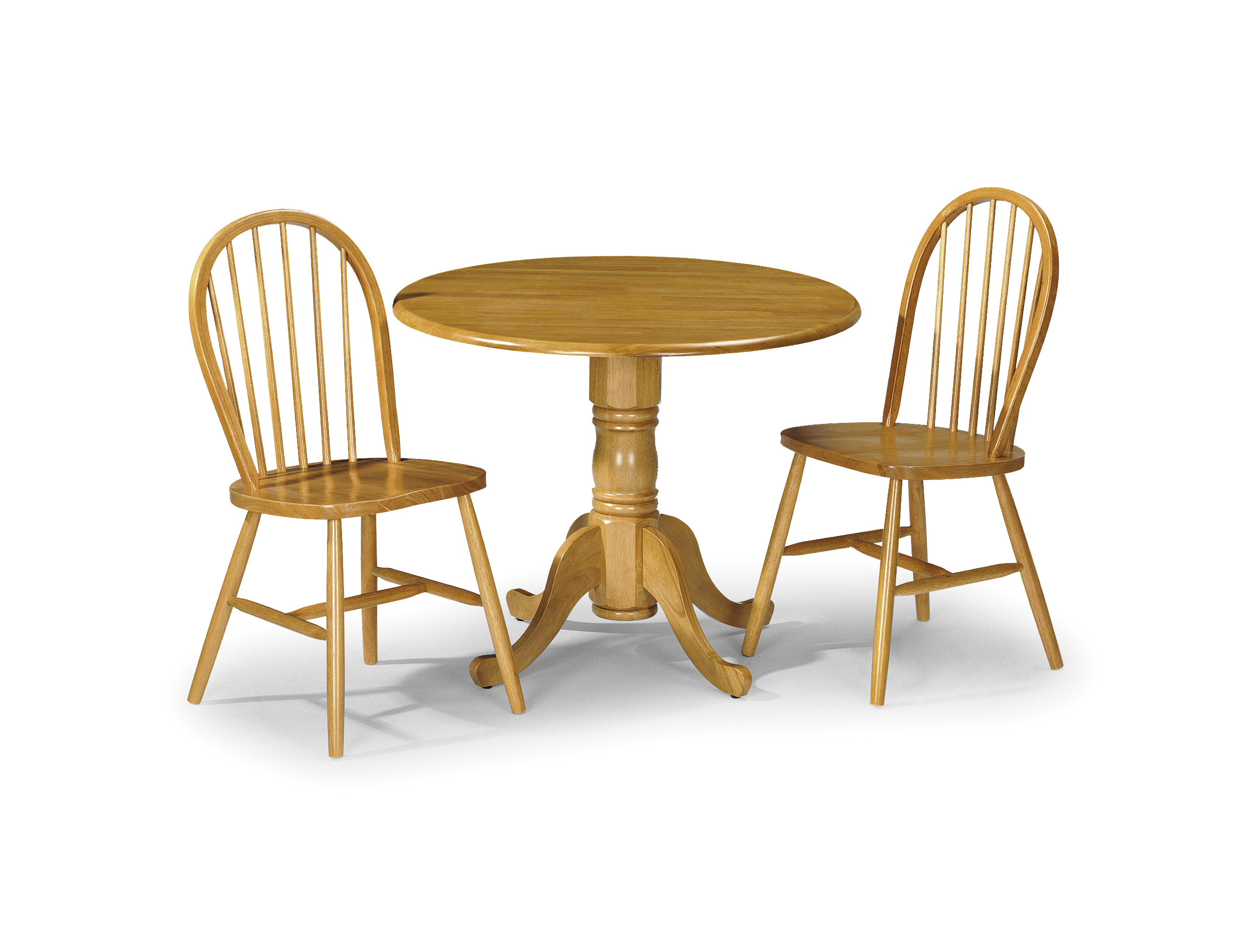 Clic Solid Pine Dining Set Table 2 Chairs